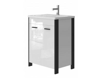 2557 kingsbath broadway black 65 koupelnova skrinka s umyvadlem