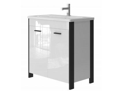 2560 kingsbath broadway black 80 koupelnova skrinka s umyvadlem