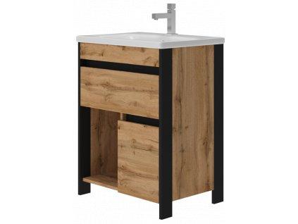 2650 kingsbath bronx oak 65 koupelnova skrinka s umyvadlem