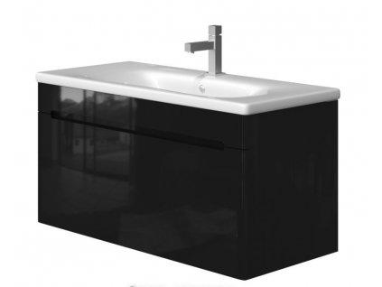 5653 kingsbath carina black 100 koupelnova skrinka s umyvadlem