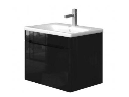 5656 kingsbath carina black 65 koupelnova skrinka s umyvadlem