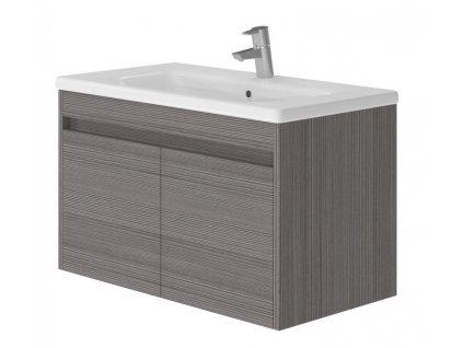 2725 kingsbath columba dark 80 koupelnova skrinka s umyvadlem