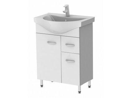 3085 kingsbath draco 60 koupelnova skrinka s umyvadlem
