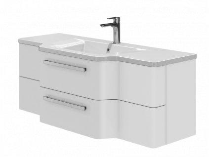 4096 kingsbath levanto white 128 koupelnova skrinka s umyvadlem