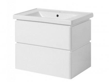 3568 kingsbath lion ii 60 white koupelnova skrinka s umyvadlem