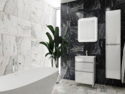 4042 kingsbath luton ii 65 white koupelnova skrinka s umyvadlem