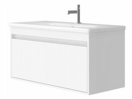 4126 kingsbath malta 100 white koupelnova skrinka s umyvadlem