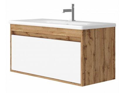 4129 kingsbath malta 100 wotan oak koupelnova skrinka s umyvadlem