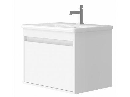4132 kingsbath malta 65 white koupelnova skrinka s umyvadlem