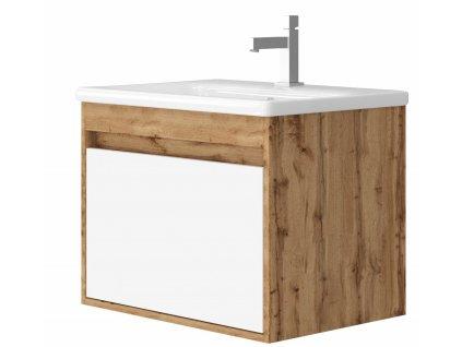 4135 kingsbath malta 65 wotan oak koupelnova skrinka s umyvadlem