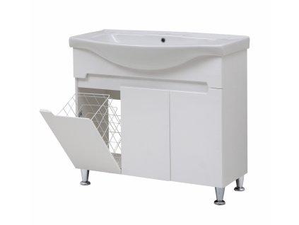 4144 kingsbath marco 95 koupelnova skrinka s umyvadlem a kosem