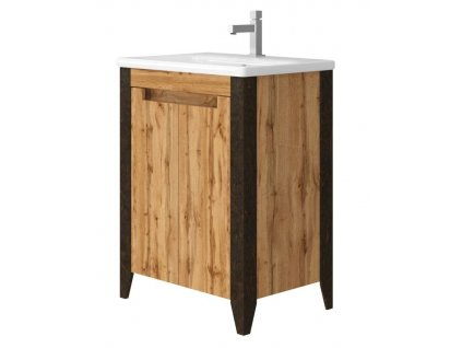 4789 kingsbath queen 65 wotan oak koupelnova skrinka s umyvadlem