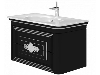 5626 kingsbath treviso black 100 koupelnova skrinka s umyvadlem
