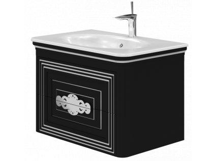 5632 kingsbath treviso black 80 koupelnova skrinka s umyvadlem
