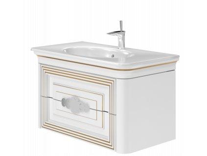 5629 kingsbath treviso white 100 koupelnova skrinka s umyvadlem