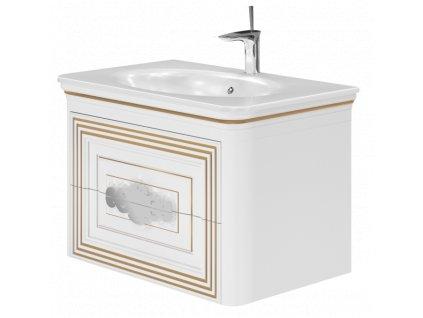 5635 kingsbath treviso white 80 koupelnova skrinka s umyvadlem