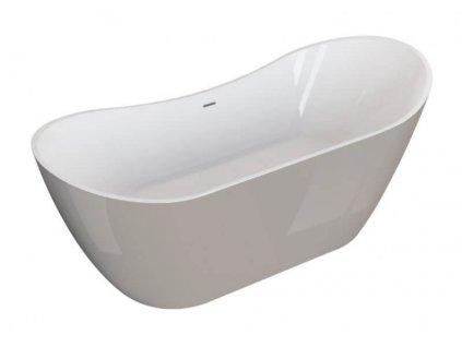 Polimat Abi volně stojící akrylátová vana 180x80, bílý popel (Délka vany 180 cm)