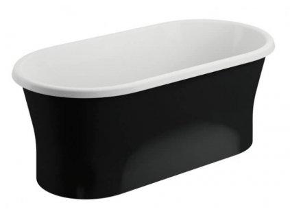 Polimat Amona Black volně stojící akrylátová vana 150x75 mat (Délka vany 150 cm)