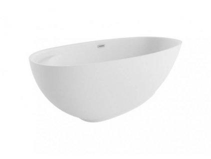 Polimat Kivi volně stojící akrylátová vana 165x75, bílá (Délka vany 165 cm)