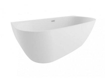 Polimat Risa volně stojící akrylátová vana 170x80, bílá (Délka vany 170 cm)