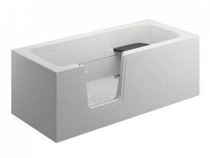 Polimat Vovo 170x75 krycí panel boční bílý (Délka vany 75 cm)