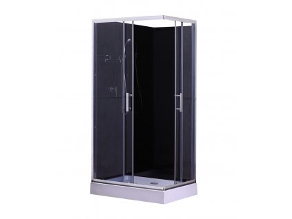 6139 savana veduta livia plus black 100x80 sprchovy box
