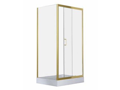 Savana Veduta Maja 100x80 obdélníkový sprchový kout s vaničkou, gold (Rozměr 100x80)