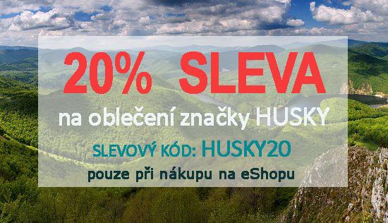 20% sleva na textil značky HUSKY