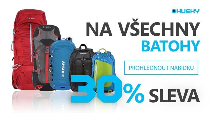 Sleva batohy a tašky Husky - 30 %