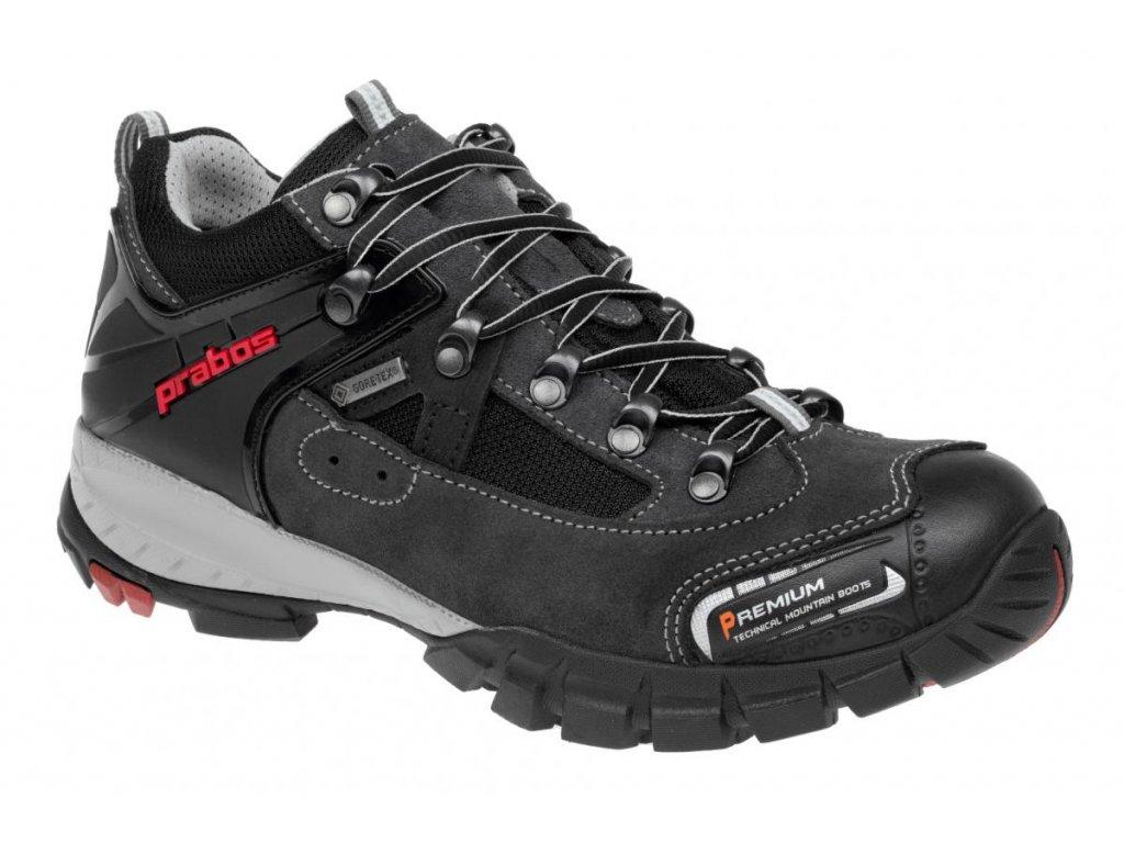 Pánské trekové boty Prabos Nanga GTX-140 šedo červené  c08107b3eb