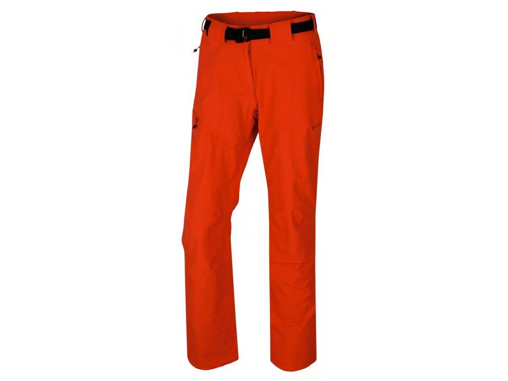 Husky Keiry L dámské sofshellové kalhoty sv červené