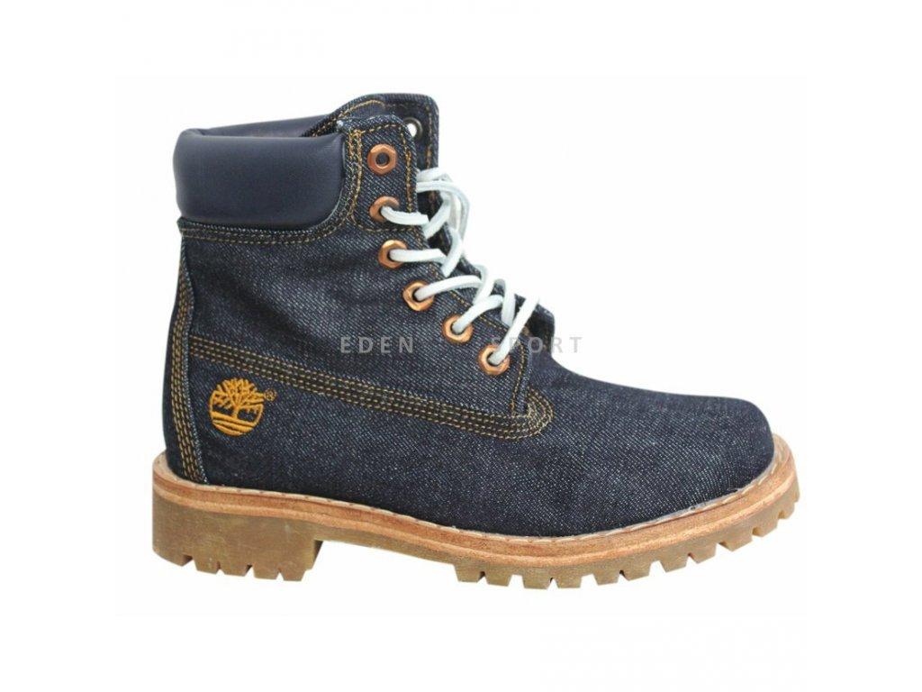 Timberland Ltd Fabric 6 Inch dámská kotníková obuv džínová