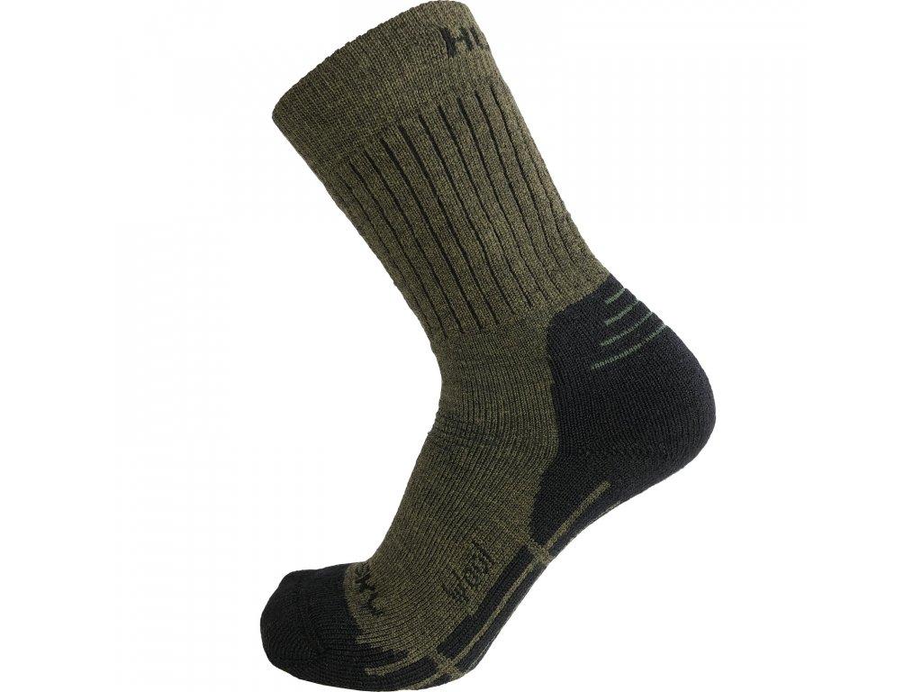 Husky All Wool ponožky khaki