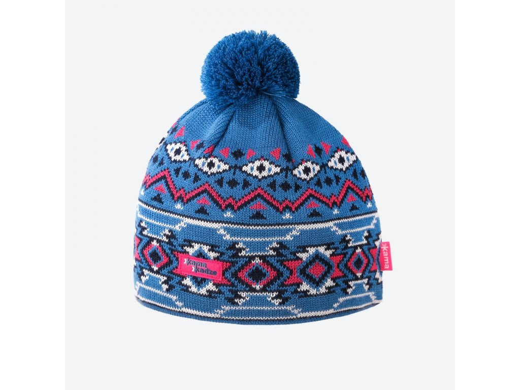 kama kamakadze k 60 100 damska pletena merino cepice svetle modra