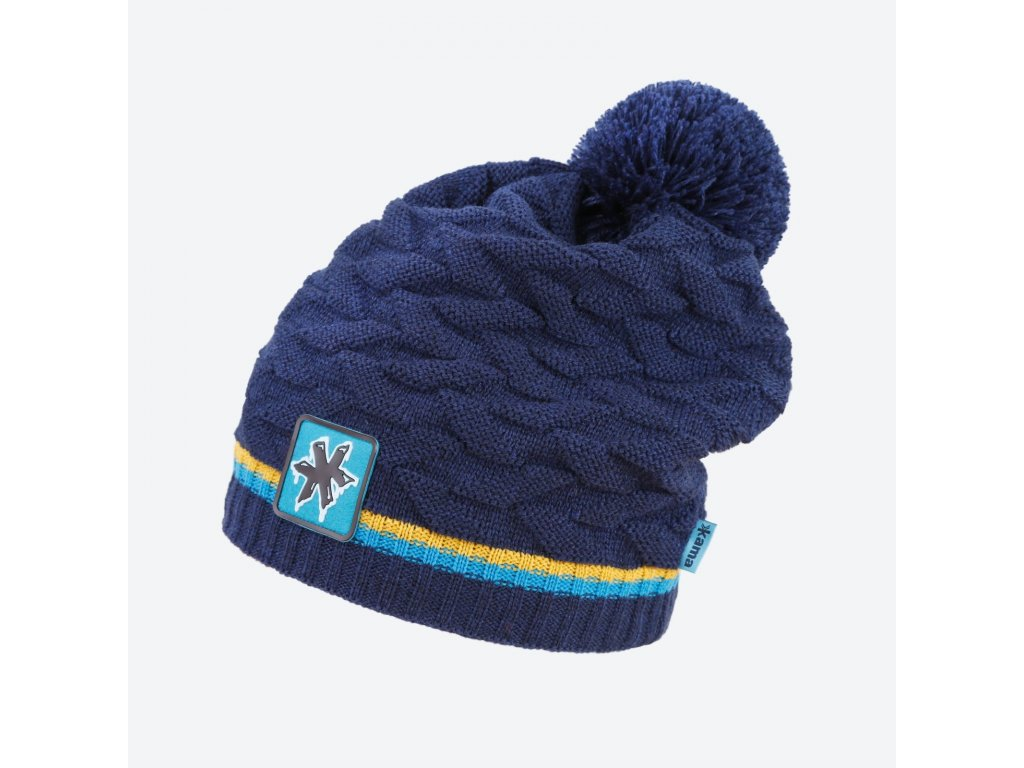 kama kamakadze k 61 108 pletena merino cepice tmave modra