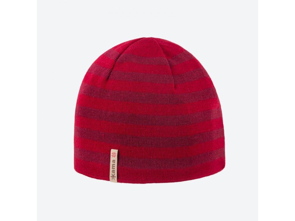 kama a 122 104 pletena merino cepice cervena