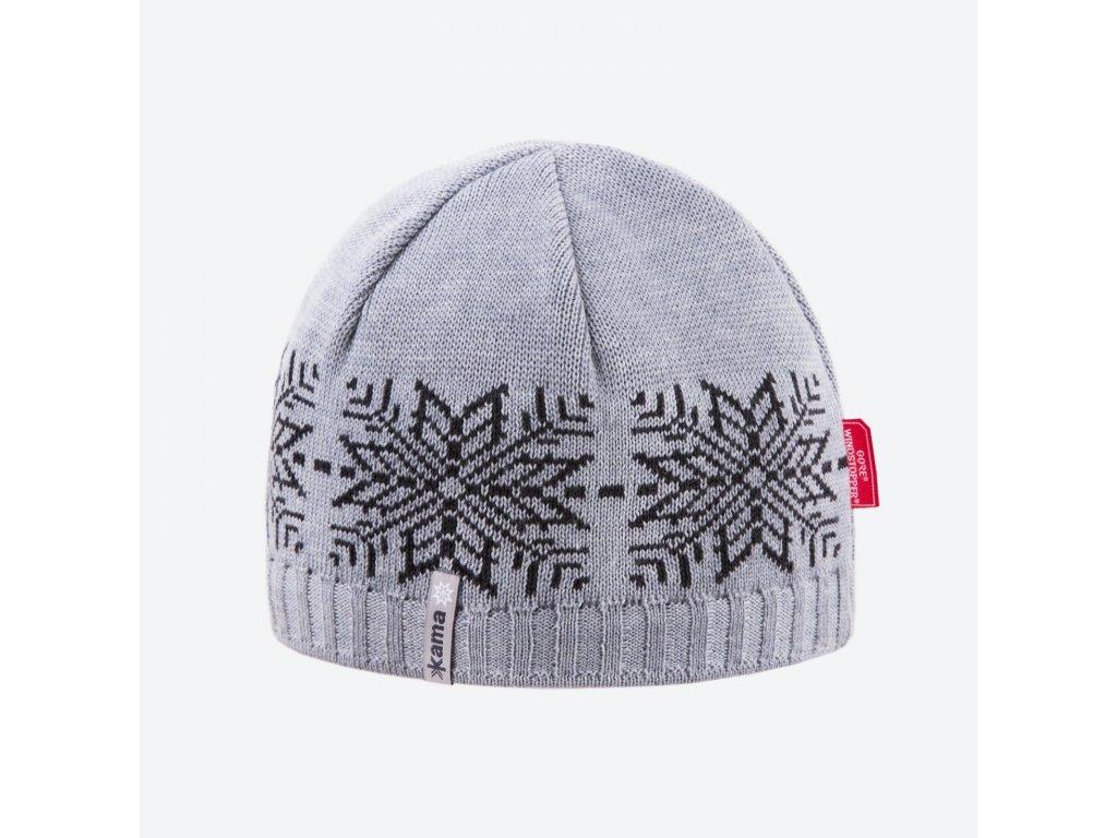 Kama AW 64-109 pletená merino čepice světle šedá