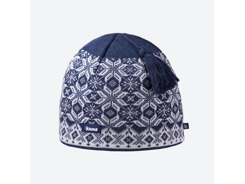 Kama A 57-108 pletená merino čepice tmavě modrá