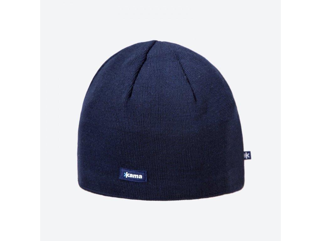 Kama A 02-108 pletená merino čepice tmavě modrá