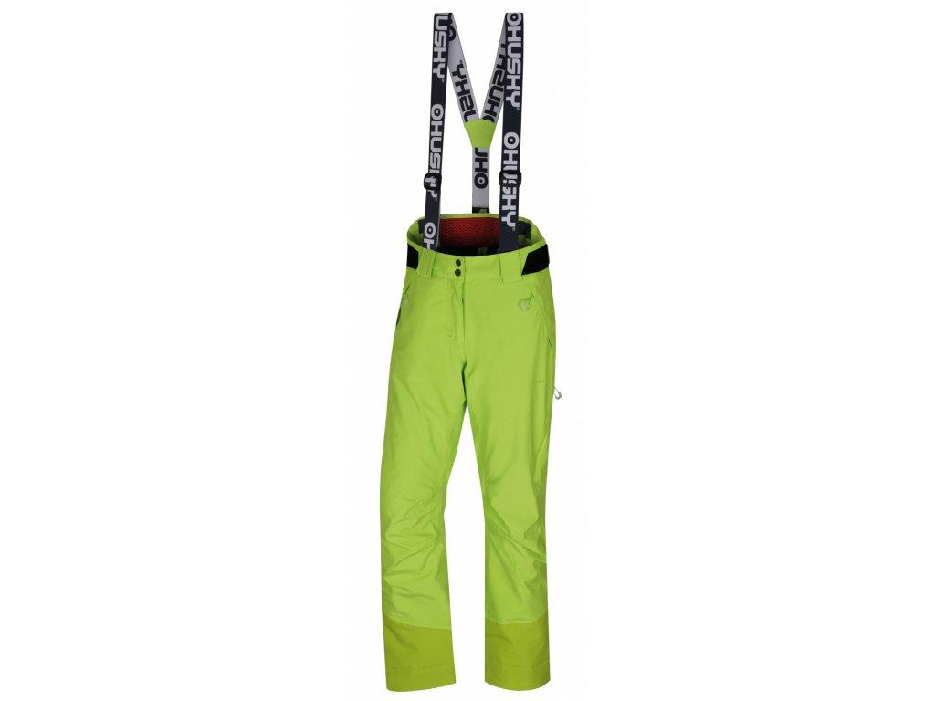husky-mitaly-damske-lyzarske-kalhoty-vyrazne-zelene