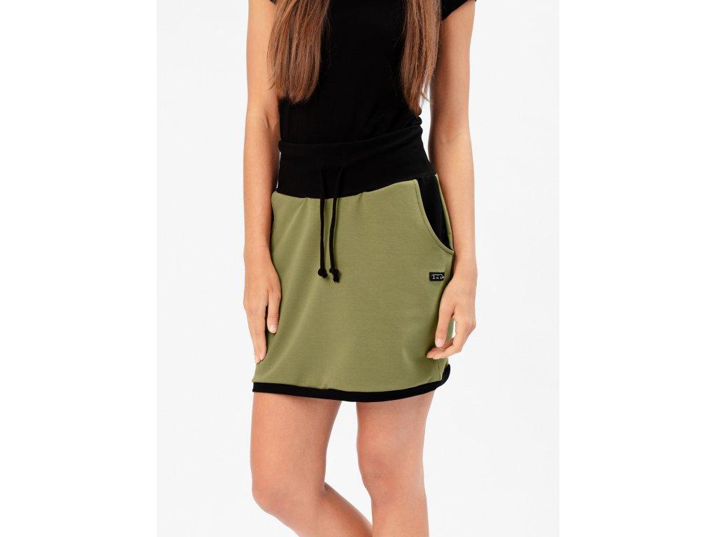 IceDress Agus Khaki sukně