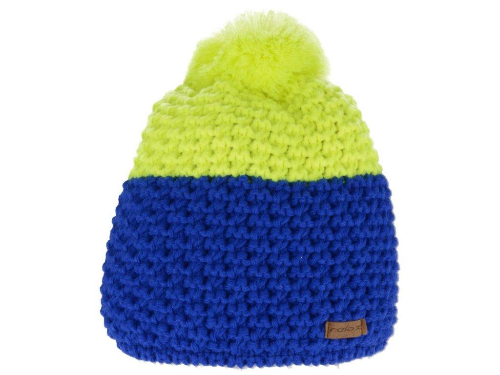 relax hayley zimni cepice modro zluta
