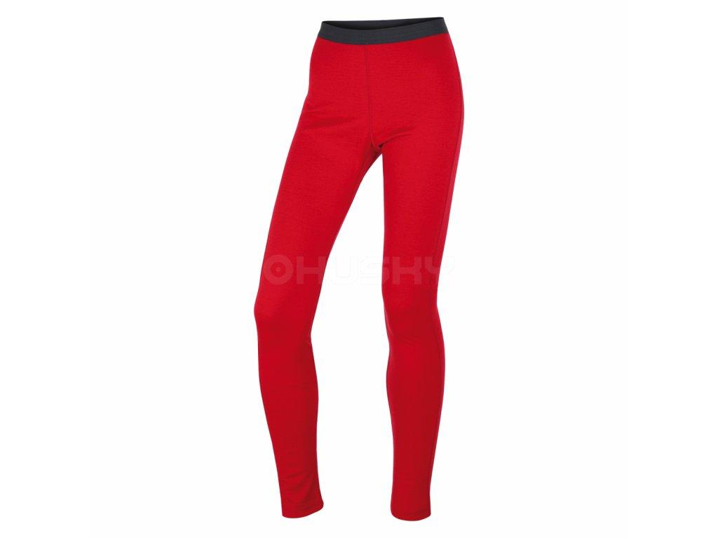 husky-merino-damske-termo-kalhoty-cervene