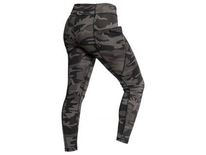 rothco workout damske leginy black camo 3