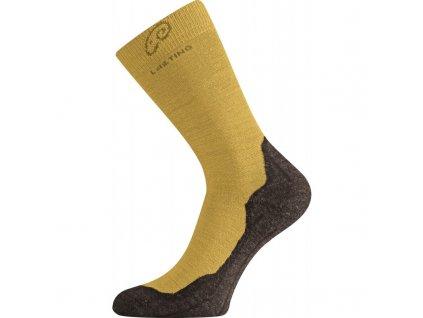 lasting whi 640 merino ponozky horcicove
