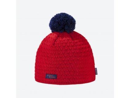 Kama Kamakadze K 36-104 dámská pletená Merino čepice červená