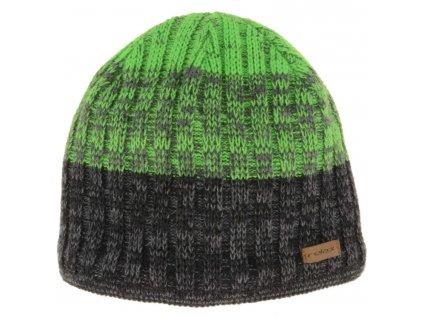 relax tony zimni cepice sedo zelena