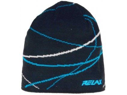 relax waver zimni cepice modra