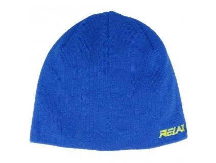 relax gumble zimni cepice modra