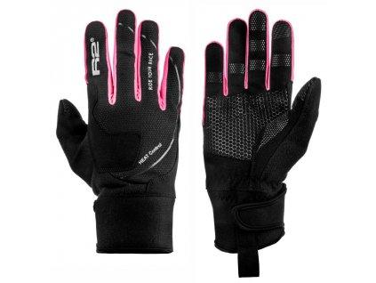 relax r2 blizzard zateplene rukavice ruzove